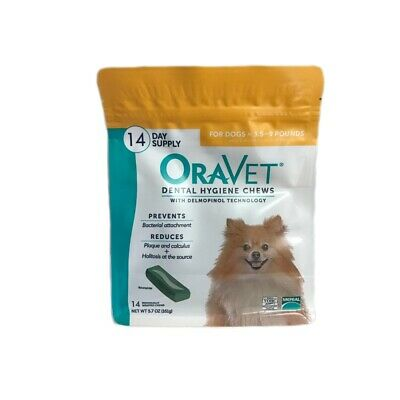 Oravet Dental Hygiene Chews Dogs 3.5-9lbs 14ct By Merial