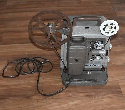 BELL & HOWELL 253 AX 8MM MOVIE  FILM Projector W/case & film  #4