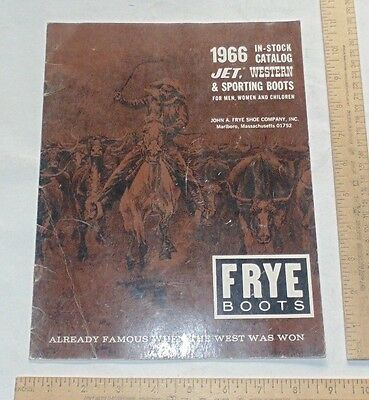 1966 FRYE BOOTS - illustrated paperback Catalog - JET, WESTERN & SPORTING BOOTS