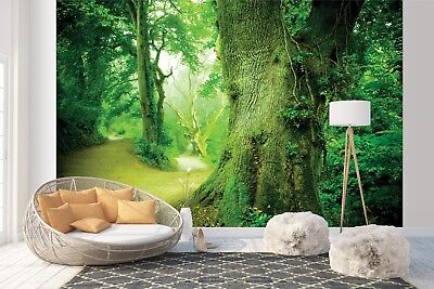 Wall Mural Photo Wallpaper Picture EASY INSTALL Fleece Green Deep Forest  Mural