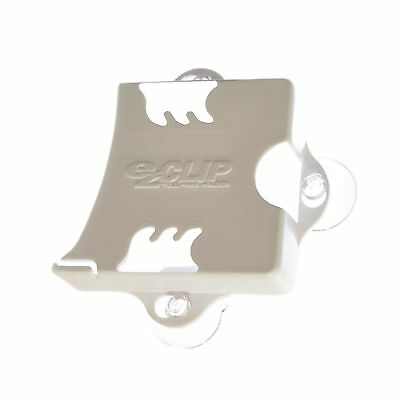 EZ-Pass Clip Electronic Toll Tag Holder for E-ZPass / i-Zoom / i-Pass - WHITE