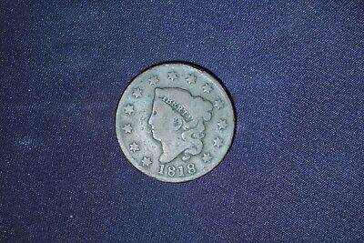 1818 Matron Head Large Cent-Only 3,167,000 were ever minted!