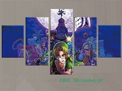 Legend of Zelda,5 PC HD Print on Canvas Painting Home Decoration Wall Art