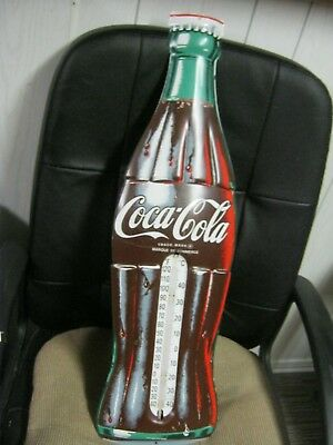 METAL  COKE   SIGN  with THERMOMETER