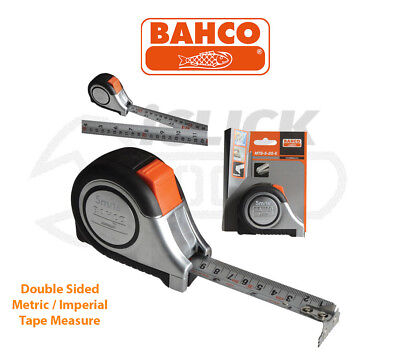 Bahco MTS525E 5m/16ft cm/inch Stainless Steel Blade With Magnet Tip Tape Measure