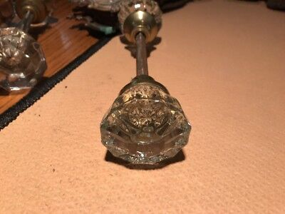 1 sets Antique Vintage Glass Door Knobs -  Architectural Salvage