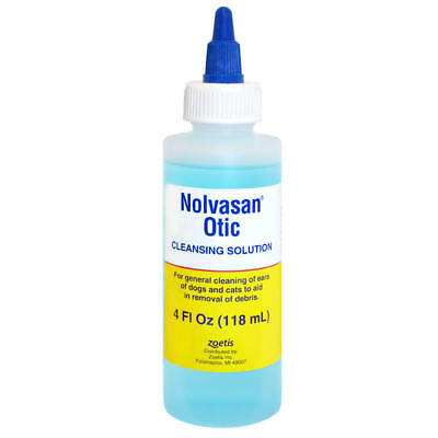 Nolvasan Otic Ear Cleansing Solution for Dogs and Cats 4oz by Zoetis