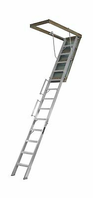 Louisville Ladder AL228P Aluminum Attic Ladder with 350 lb Load Capacity and ...