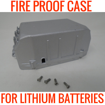 Fire Proof Metal Case For Lithium Ion 18650 Batteries Holds 20 Cells 36V 48V 72V
