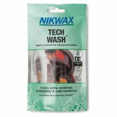 Nikwax Tech Wash 100 Ml Pouch For Waterproofing Clothes And Camping Gear