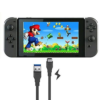 1M USB Charger Data Sync Cable Adapter Lead charging for Nintendo Switch black