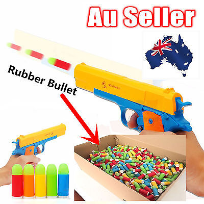 10-30Pcs M1911 Or Revolver Rubber Bullet Toy Gun Re fill Pack Ammo Assorted FX06