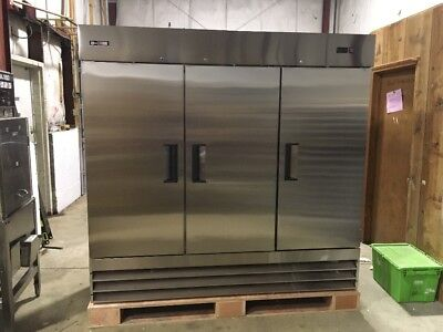Commercial 3 door reach in refrigerator stainless cooler brand new 72 CU ft