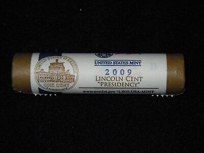 """2009  D   Lincoln  Cents   LP4  """"  Presidency  """"   Mint  Uncirculated   Roll"""