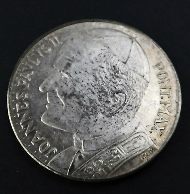 Joannes Pavlvs II Pont. Max Pope Silver Coin Italy