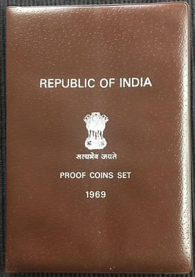 1969 Republic of India Proof Coin Set - 9 Coin Set Original Package