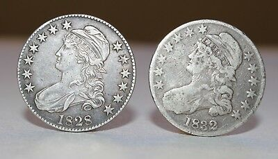 Lot Of 2 Capped Bust Half Dollars (1828 & 1832)
