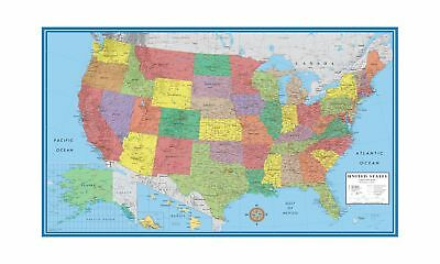 Us Map Mural.24x36 United States Usa Classic Elite Wall Map Mural Poster Paper