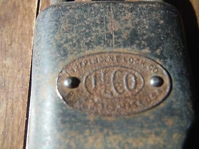 Vintage/Antique ILCO Independant Lock Co Padlock with no key nice Name Badge
