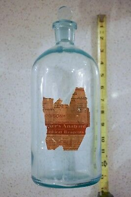 Beautiful Large Clear Antique Apothecary/poison Bottle