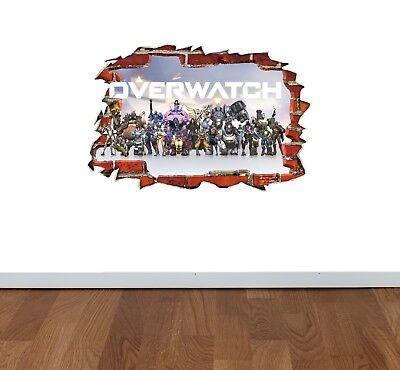 Apex Legends Pathfinder 3D Smashed Wall Break Out Sticker Bedroom Wall Art Decal