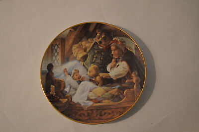 NEW Goldilocks and the Three Bears by Edwin M Knowles China Co COLLECTORS PLATE