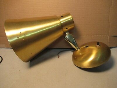 Wall Light Vintage 1960s Ward Wall Mount Gold Finish Single Bulb Fixture
