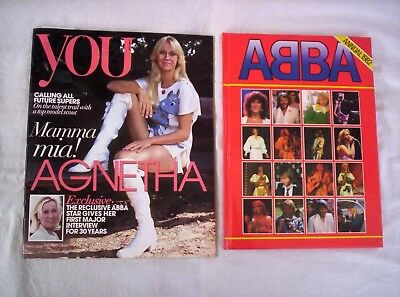 Abba, Annual 1982, 48 Pages, Uk Issue, + You Mag 2013 Agnetha Interview,vg Cond