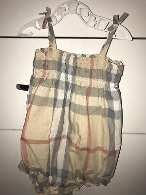 Burberry Baby Romper Girls Size 9 months