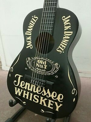 JACK DANIEL'S TENNESSEE WHISKEY acoustic guitar pub bar man cave whisky