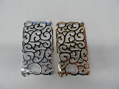 2 * Samsung Galaxy Note Decorative Hard Lattice Clip On Back Case