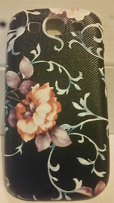 Floral Pattern Black Style 5 Hard Shell Back Case for Samsung Galaxy S3