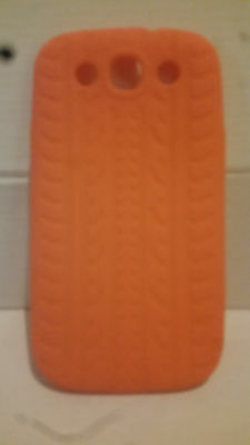 Orange Tyre Tread Soft Gel Case for Samsung Galaxy S3