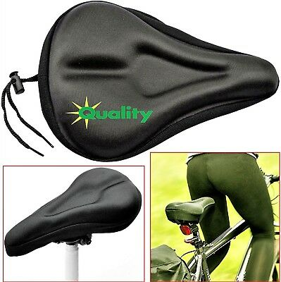 Bike Bicycle Cycle Extra Comfort Gel Pad Cushion Cover Saddle Gym Seat Comfy Uk