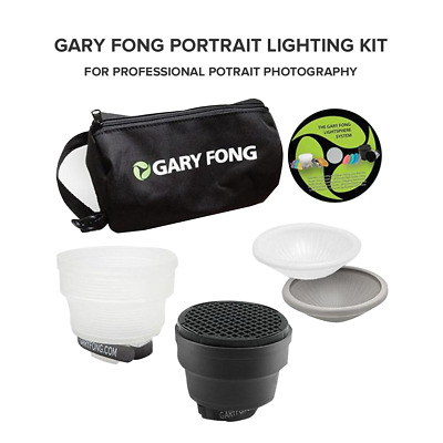 Gary Fong Lightsphere Collapsible Professional Portrait Photography Lighting Kit