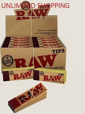 Raw Rolling Paper Roach Filter Tips Chlorine free Filter tips Roach Book NEW