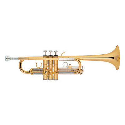 C Key Trumpet Outfit Brass Instrument With Case Gloves Cleaning Cloth