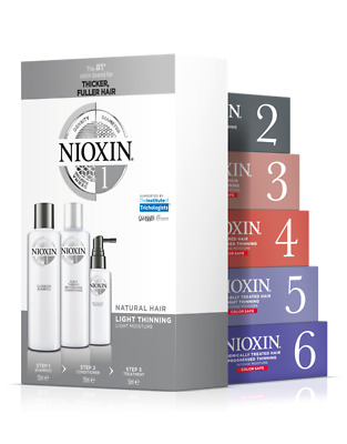 NIOXIN KIT HAIR SYSTEM Anticaduta capelli 1/2/3/4/5/6 15O+150+40ML SPEDIZ 24/48H