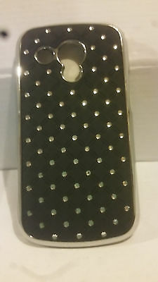 2 * Black Bling Hard Back Shell Case for Samsung Galaxy S Duos S7562