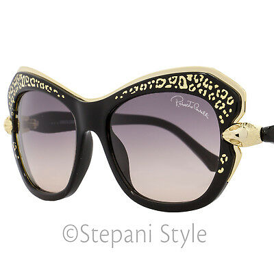 Roberto Cavalli Square Sunglasses RC981S Taygeta 01B Black/Gold 981