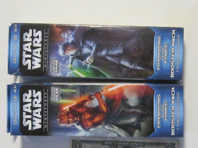"set of 2 Star Wars miniatures ""Champions of the Force"" booster pack both are fac"