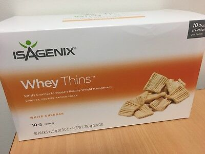 Isagenix Whey Thins protein-packed snacks 10 packs x 25g *FREE POSTAGE**