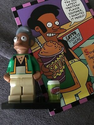 The Simpsons - Collector Cards Lot including 2 Holograms + Lego APU MiniFigure