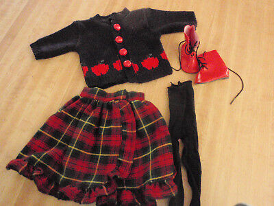 TONNER MAGIC ATTIC  Sweater-Plaid skirt  boots, tights  -NO DOLL
