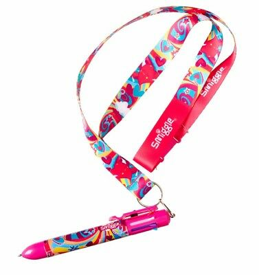 """Latest! Smiggle """"snazzy"""" Lanyard With A Rainbow Pen, Colour Blast"""