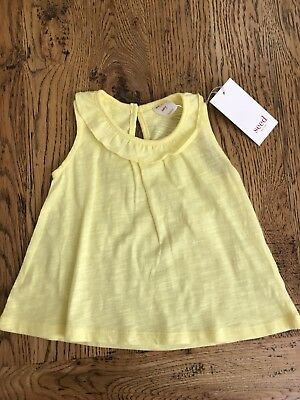 SEED - BNWT - Girls - Sleeveless Top, Size 12-18 Months, 100% Cotton, RRP $19.95