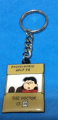 Peanuts Lucy The Doctor Is In Psychiatric Help 5 Cents Keychain