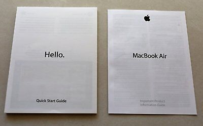 Apple MacBook Air Quick Start & Information Guides