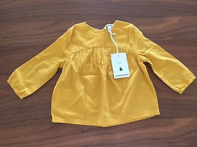 Country Road Mustard Top 6-12m Bnwt