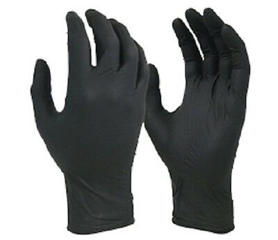 Glove Disposable Black Shield Nitrile Small Medical Grade Chemical Resistant